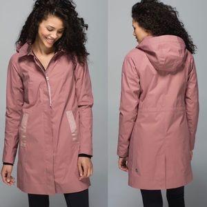LULULEMON Rain On Jacket in Bark Berry